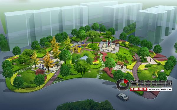 (府后路道坡社区公园景观鸟瞰