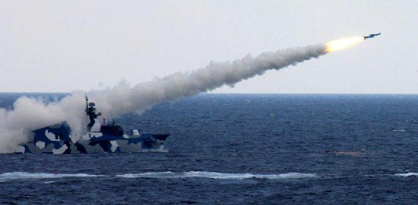 海洋军舰手绘图