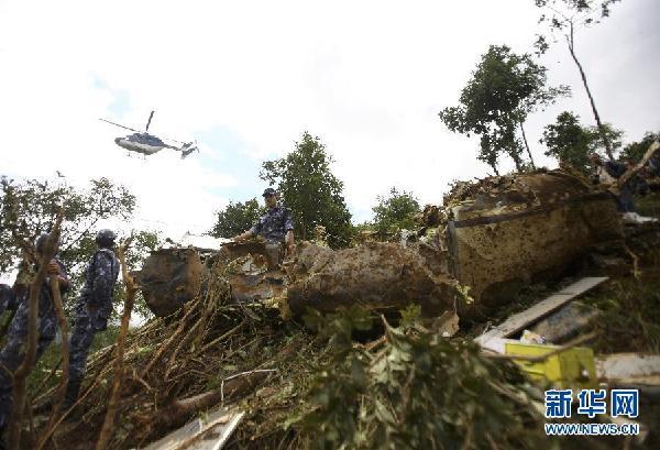 尼泊尔一小型飞机坠毁
