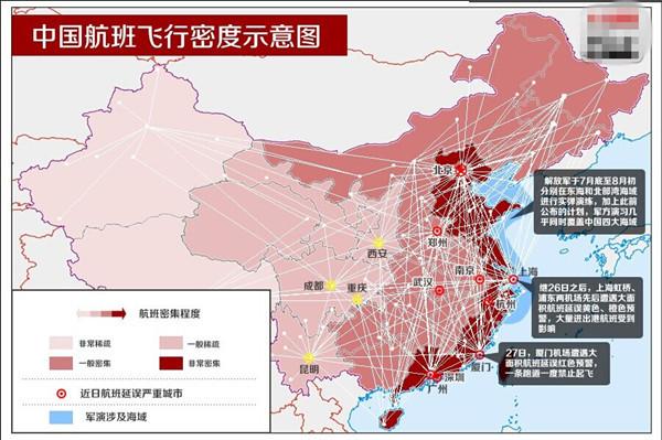 航班 br>上海空域将拥堵