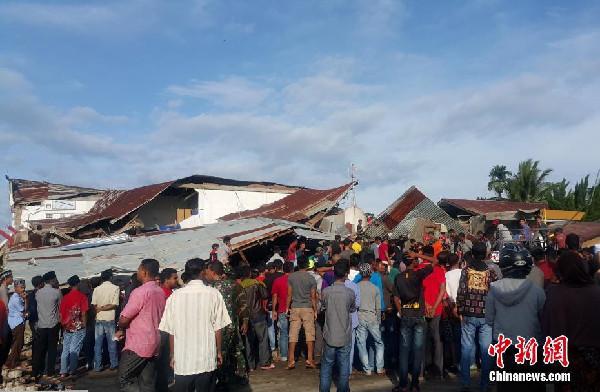 印尼苏门答腊岛发生6.8级地震