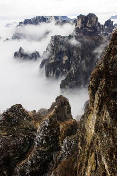 王莽岭具有八百里最著名的太行风景,南太行.